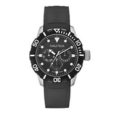 Nautica A13643G NSR 101 Black Dial Rubber Band South Beach Men's Watch Day Date