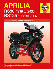 HAYNES MOTORCYCLE SERVICE & REPAIR MANUAL APRILIA RS50 99 - 06 & RS125 93 - 06