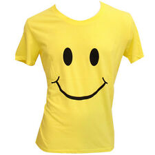OFFICIAL We Love… Space Ibiza: Smiley Face Yellow Mens T-shirt crew neck smile