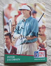 RARE PETER JACOBSEN AUTO SIGNED TRADING CARD PGA TOUR GOLFER BLOWOUT SALE