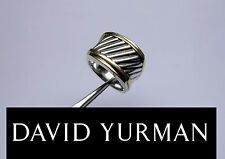 GENUINE DAVID YURMAN 14K GOLD &STERLING SILVER CLASSIC CABLE BAND RING-SZ 7~13gr