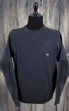 Paul & Shark Yachting Wool Shoulder & Elbow Patch Sweater Size XL Dark Gray
