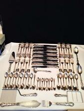 E3311 BIRKS SET OF POMPADOUR STERLING SILVER FLATWARE 72 PCS EXCELLENT CONDITION