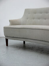 1950S VINTAGE ORIGINAL FINN JUHL STYLING CLASSIC CURVED SOFA MADE IN DENMARK