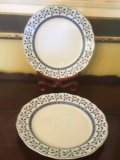 Rare Find 2 Wedgwood Scandic Blue Collection  Dinner Plates (Stockholm) Oslo