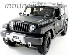 MAISTO JEEP RESCUE CONCEPT S.W.A.T. SWAT POLICE CAR 1/18 DIECAST MATTE BLACK