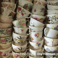 Job lot 100 Vintage Tea Cups - Ideal for use at Weddings