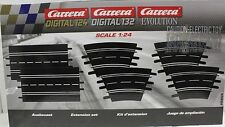 CARRERA 26955 EXTENSION SET 2 1/24 1/32 SLOT CAR TRACK 6 PIECES