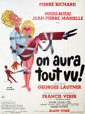 Affiche 60x80cm ON AURA TOUT VU (1976) Pierre Richard, Miou-Miou, Marielle BE