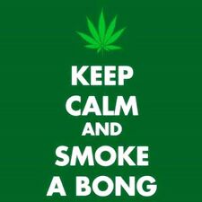 Keep Clam And Smoke A Bong square steel fridge magnet   (cv)