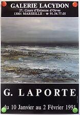 G. LAPORTE  expose Galerie Lacydon à Marseille AFFICHE ORIGINALE/12PB