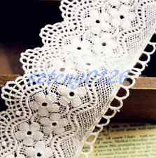 1Yd Wide Vintage Guipure Lace Trim Cotton Crochet Wedding Sewing Bridal Fabric