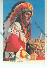 "NATIVE AMERICAN-INDIAN WARFARE WITH DRUM-4""X6"" POSTCARD-(INDIAN4X6-45)"