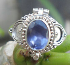 925 Sterling Silver Balinese Poison Locket Ring W IOLATE Size 7 -RL02