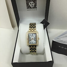NEW ARRIVAL! ANNE KLEIN CRYSTALS & MOTHER-OF-PEARL GOLD-TONE BRACELET WATCH $85