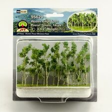 "JTT Scenery Products Pastel Green Woods Edge Trees HO-Scale 3""- 3.5"" 14/pk 95620"
