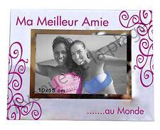 """Cadre photo """"Ma Meilleure Amie au Monde"""" à poser horizontal idée cadeau neuf"""