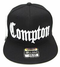COMPTON Snapback Hat South Central Los Angeles City Cap Black LA RAIDERS NWT