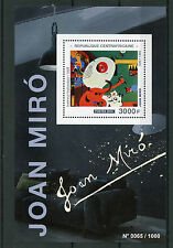 Central African Republic 2015 MNH Joan Miro 1v S/S Paintings Dutch Interior