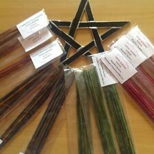 RITUAL INCENSE STICKS, HAND MADE & CONSECRATED 10 PER PACK x 4 packs