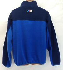 BMW M Power Mens XL Multicolor 1/4 Zip Fleece Pullover Jacket Apparel