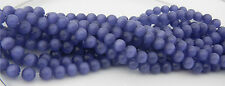 50 Pcs  WHOLESALE 8mm  CAT'S EYE FIBER OPTIC BEADS - VIOLET BLUE