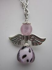 Car mirror charm Guardian Angel/Fairy  Pendant hanging ornament gift pink .