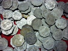 10 paise ~~ 1983-1993 ~~ aluminium~ 100 COIN LOT ~~ both type flower and small