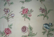 3 Yards Classic Clarence House Floral Botanical Print 100% Cotton Fabric