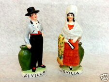 NICE ANTIQUE GERMAN PORCELAIN TOOTHPICKS COUPLE FIGURINE SPANISH SEVILLA