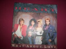 HEART  7 inch Vinyl Single Picture Cover WHAT ABOUT LOVE  1985