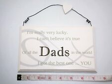 Lucky Dads Wall Plaque Sign Gift Ideas for Dad Men & Him for Fathers Day