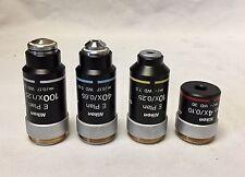 Nikon Microscope CFI E Plan Objective Set - 4 Objectives - 4x/10x/40x/100x