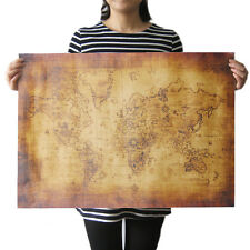 Large Vintage Style Retro Paper Poster Globe Old World Map Gifts 70x50cm