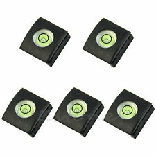 5pcs Flash Hot Shoe Cover Cap Bubble Spirit Level For Nikon Canon Olympus Camera