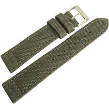 22mm Hadley-Roma MS850 Mens Grey Cordura Canvas Watch Band Strap