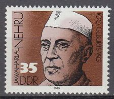 DDR East Germany 1989 ** Mi.3284 Politiker Politician | Jawaharlal Nehru