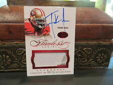 Panini Flawless Ruby Autograph Jersey 49er's Auto Frank Gore  08/15  2014