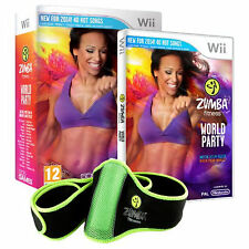 Zumba Fitness World Party w/ Fitness Belt Nintendo Wii System Factory Sealed !