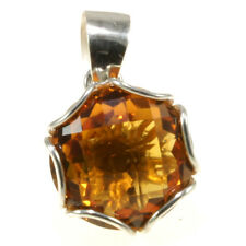 Gorgeous Citrine Pendant 925 Sterling Silver Jewelry Great Gift Item from Bali