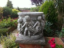 White Stone Small Roman Planter ~ Garden Ornaments ~ collection from doncaster