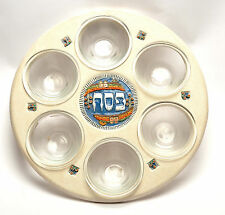 Passover Seven Species Kiddush Plate Hands Made Painting & Design