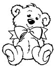 Unmounted rubber stamp - Teddy Relaxing - 7020