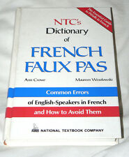 NTC's Dictionary of French Faux Pas (1994 HC) - vocabulary, idiom, etc. - NEW!
