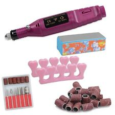 Nail File Drill Kit Electric Manicure Pedicure Acrylic Portable Salon Machine