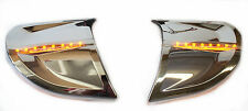 Goldwing GL1800 Chrome Headlight Cover Trims Amber LED 45-1299ALED  (2006-2015)