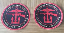 MILITARY LAND ROVER ROYAL  MARINE 95 Cdo Royal artillery Decals X2