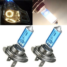 2 x H7 12V 55W Xenon White 6300k Halogen Blue Car Head Light Lamp Globes / Bulbs