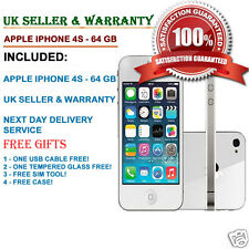 Apple iPhone 4s 64GB White Unlocked Smartphone B++++ GOOD Condition FREE GIFTS