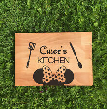 PERSONALISED MINNIE MOUSE DISNEY LASER ENGRAVED CHOPPING BOARD KITCHEN GIFT